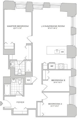 3 Bedrooms, Financial District Rental in NYC for $8,245 - Photo 2