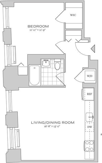 1 Bedroom, Financial District Rental in NYC for $3,996 - Photo 2