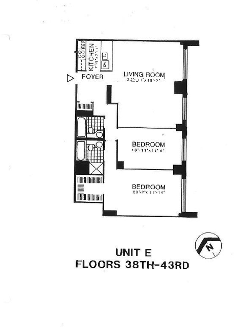 2 Bedrooms, Battery Park City Rental in NYC for $6,995 - Photo 2