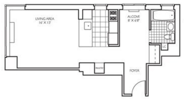 Studio, Theater District Rental in NYC for $3,020 - Photo 2