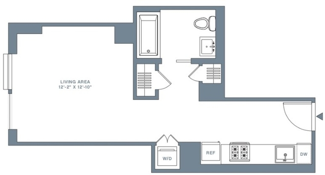 Studio, Financial District Rental in NYC for $3,556 - Photo 2