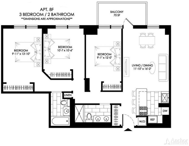 2 Bedrooms, Manhattan Valley Rental in NYC for $5,291 - Photo 2