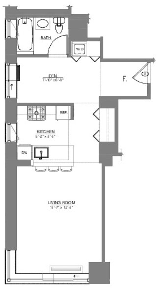Studio, Theater District Rental in NYC for $3,496 - Photo 2