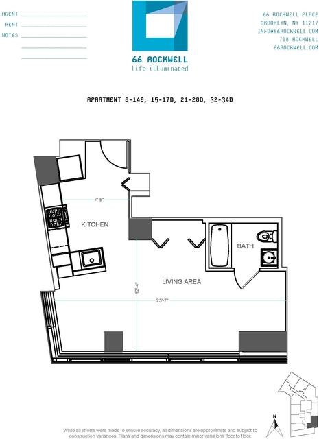 Studio, Fort Greene Rental in NYC for $2,828 - Photo 2