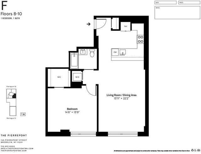1 Bedroom, Brooklyn Heights Rental in NYC for $4,985 - Photo 2