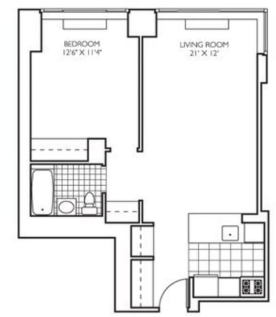 1 Bedroom, Theater District Rental in NYC for $3,410 - Photo 2