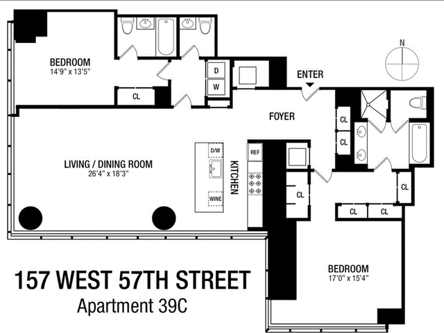 2 Bedrooms, Theater District Rental in NYC for $22,000 - Photo 2