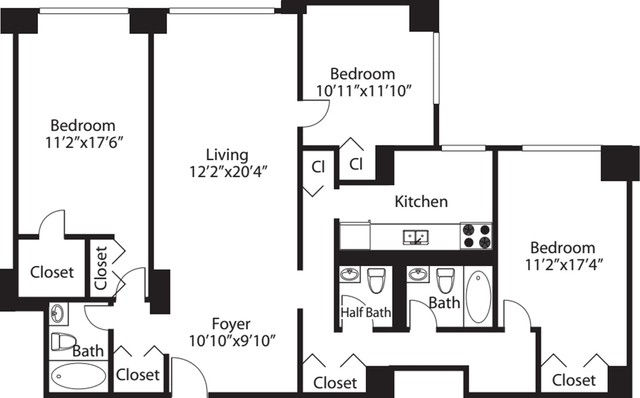 3 Bedrooms, Rose Hill Rental in NYC for $6,375 - Photo 2