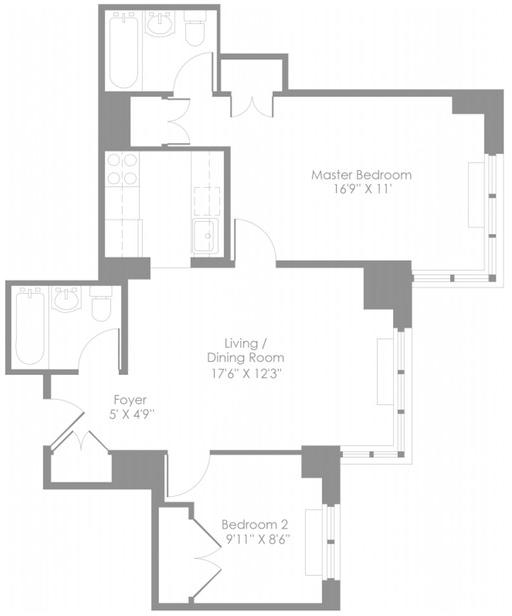 2 Bedrooms, Theater District Rental in NYC for $5,041 - Photo 2