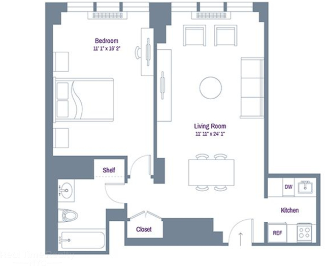 1 Bedroom, Rose Hill Rental in NYC for $3,795 - Photo 2
