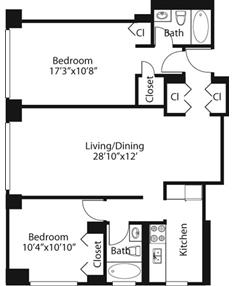 2 Bedrooms, Rose Hill Rental in NYC for $5,110 - Photo 1