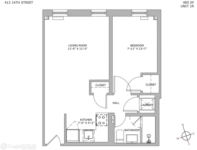 1 Bedroom, South Slope Rental in NYC for $2,677 - Photo 2