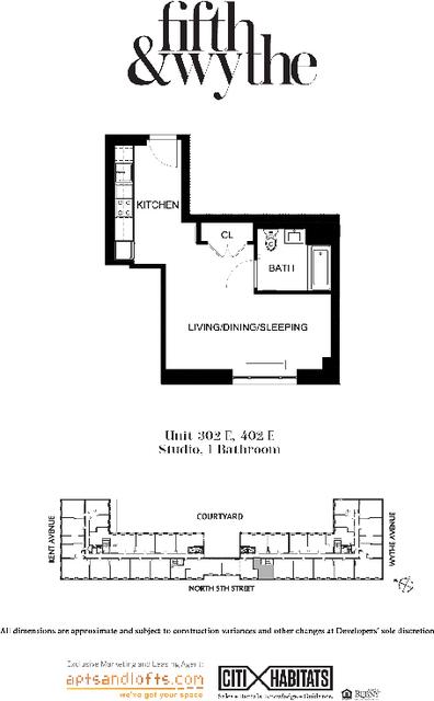 Studio, Williamsburg Rental in NYC for $2,796 - Photo 1