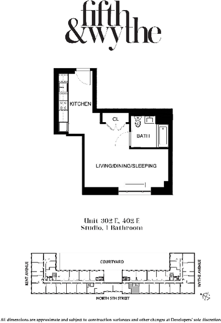 Studio, Williamsburg Rental in NYC for $2,796 - Photo 2