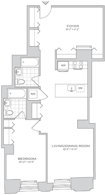 1 Bedroom, Financial District Rental in NYC for $4,798 - Photo 2