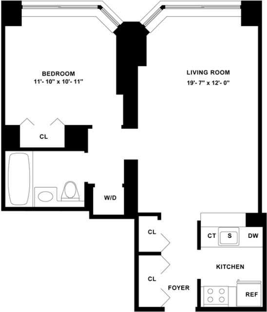 1 Bedroom, Tribeca Rental in NYC for $3,985 - Photo 2