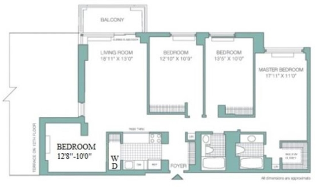 3 Bedrooms, Roosevelt Island Rental in NYC for $6,300 - Photo 2