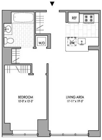 1 Bedroom, Hell's Kitchen Rental in NYC for $4,107 - Photo 2
