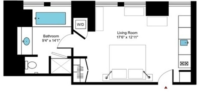 Studio, Financial District Rental in NYC for $3,300 - Photo 2