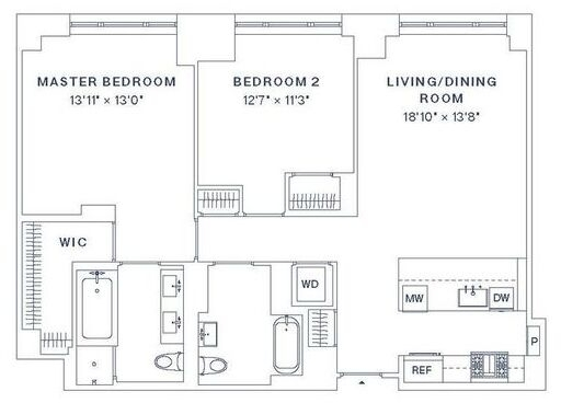 2 Bedrooms, Upper West Side Rental in NYC for $11,700 - Photo 2
