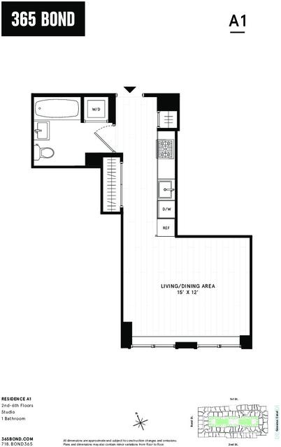 Studio, Gowanus Rental in NYC for $2,695 - Photo 2