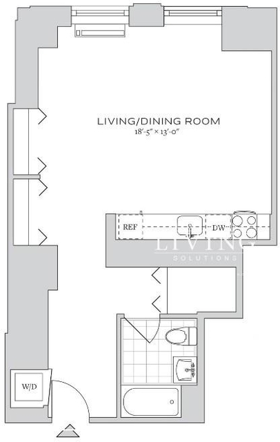 Studio, Financial District Rental in NYC for $2,120 - Photo 1