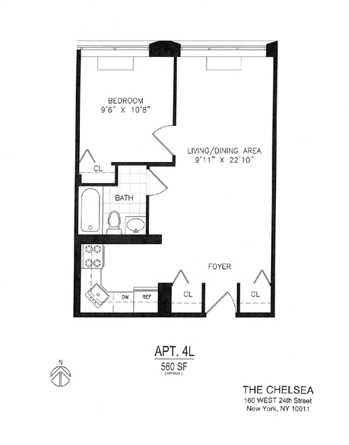 1 Bedroom, Chelsea Rental in NYC for $4,137 - Photo 2