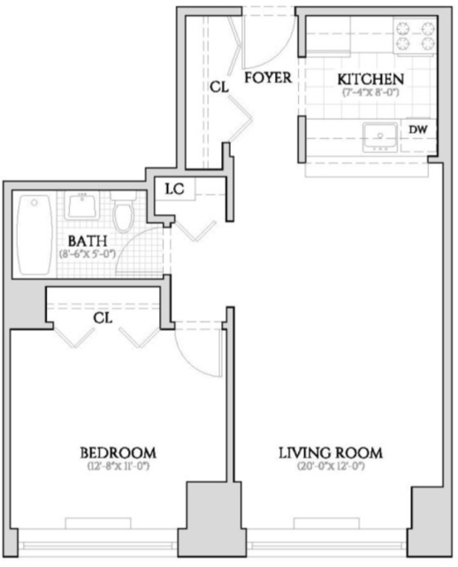 1 Bedroom, Hell's Kitchen Rental in NYC for $3,345 - Photo 2