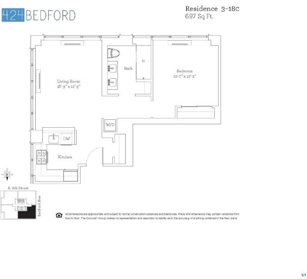1 Bedroom, Williamsburg Rental in NYC for $3,886 - Photo 2