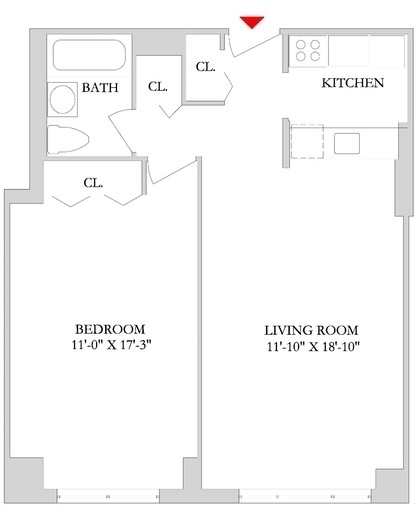 1 Bedroom, Rose Hill Rental in NYC for $3,915 - Photo 2