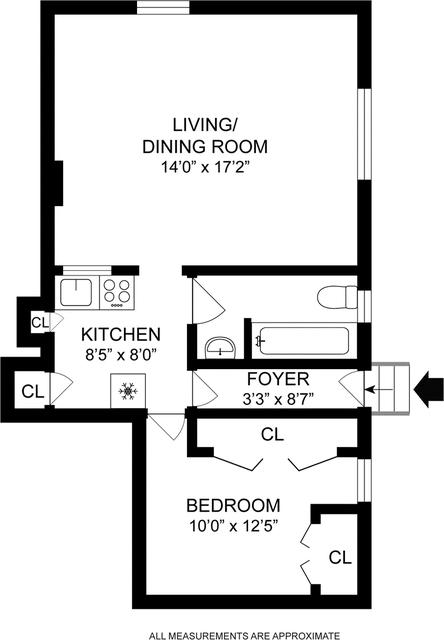 1 Bedroom, Brooklyn Heights Rental in NYC for $2,500 - Photo 2