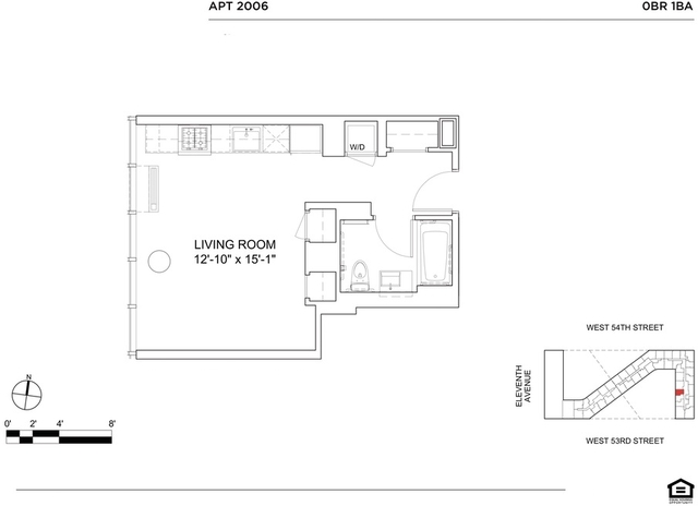Studio, Hell's Kitchen Rental in NYC for $3,034 - Photo 2