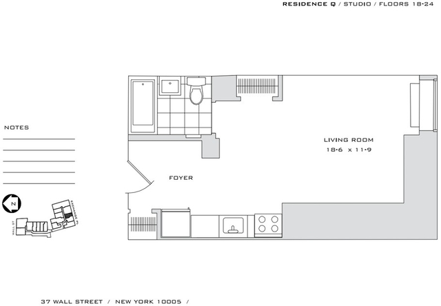 Studio, Financial District Rental in NYC for $2,715 - Photo 2