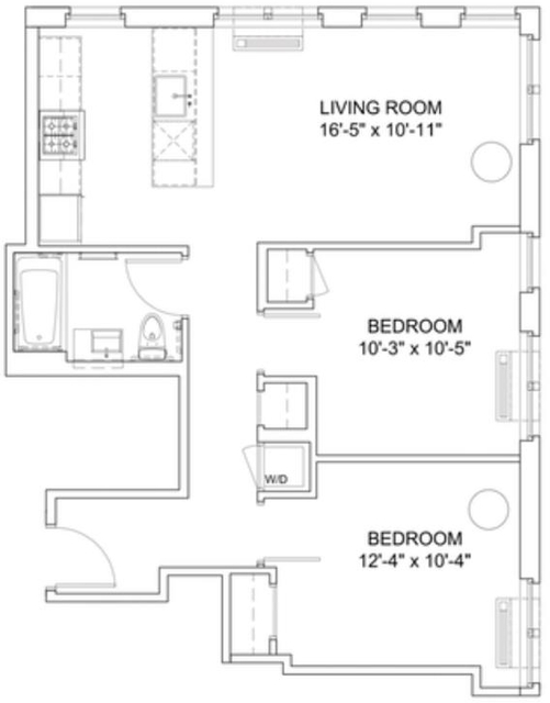 2 Bedrooms, Hell's Kitchen Rental in NYC for $4,760 - Photo 2