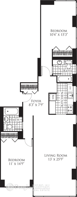 2 Bedrooms, Hell's Kitchen Rental in NYC for $6,590 - Photo 1