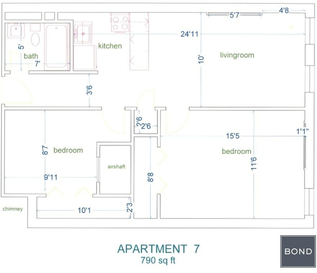 2 Bedrooms, Manhattan Valley Rental in NYC for $3,400 - Photo 2