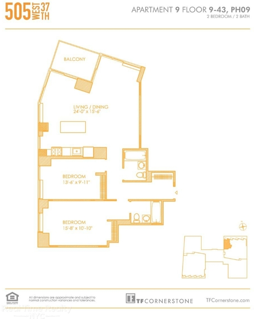 2 Bedrooms, Hell's Kitchen Rental in NYC for $5,643 - Photo 2
