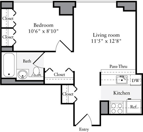 1 Bedroom, Brooklyn Heights Rental in NYC for $3,306 - Photo 2