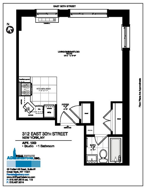 Studio, Kips Bay Rental in NYC for $2,650 - Photo 2