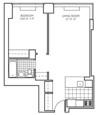 1 Bedroom, Theater District Rental in NYC for $3,032 - Photo 2