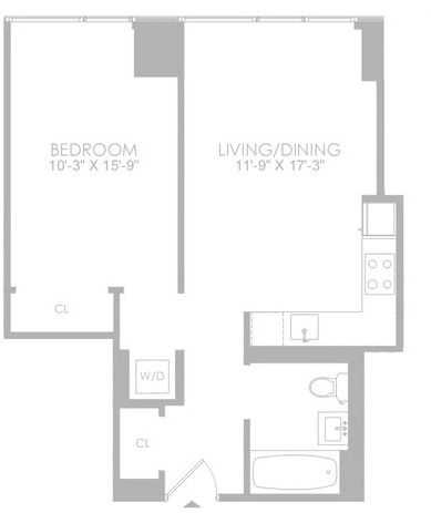 1 Bedroom, Hell's Kitchen Rental in NYC for $3,942 - Photo 2