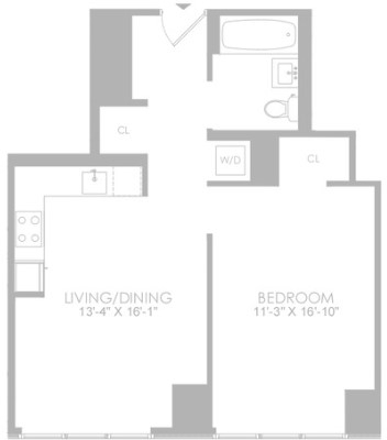 1 Bedroom, Hell's Kitchen Rental in NYC for $4,007 - Photo 2