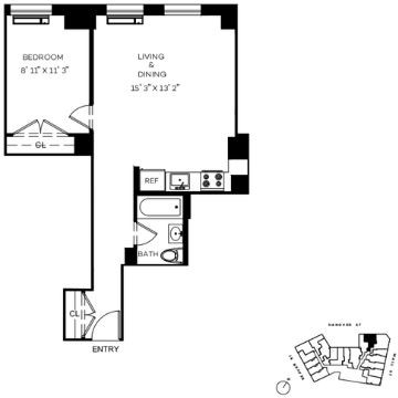 1 Bedroom, Financial District Rental in NYC for $3,658 - Photo 2