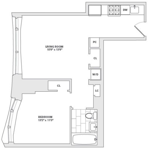 1 Bedroom, Financial District Rental in NYC for $3,835 - Photo 2