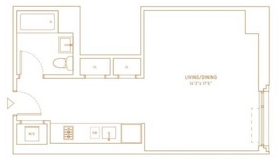 Studio, Hell's Kitchen Rental in NYC for $3,068 - Photo 2