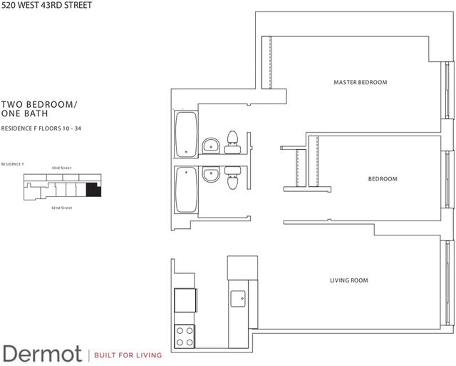 2 Bedrooms, Hell's Kitchen Rental in NYC for $4,960 - Photo 2