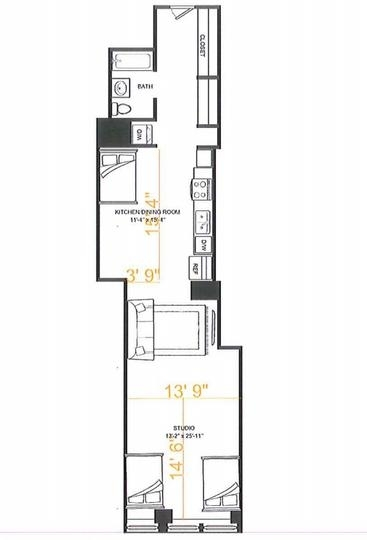 Room, Financial District Rental in NYC for $1,425 - Photo 2