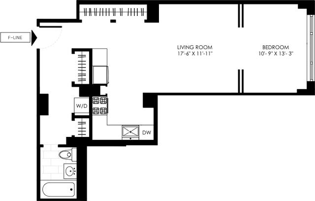 Studio, Manhattan Valley Rental in NYC for $3,238 - Photo 2