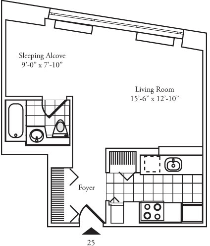Studio, Lincoln Square Rental in NYC for $3,118 - Photo 2