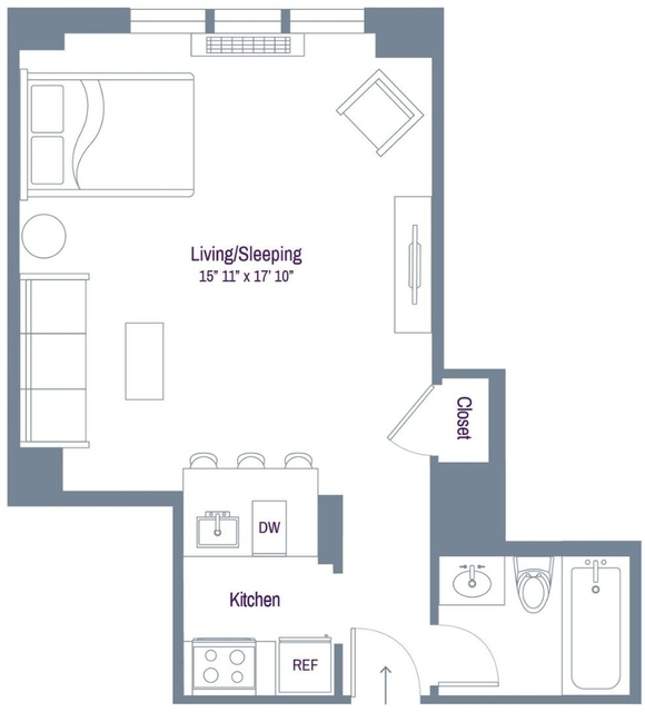 Studio, Rose Hill Rental in NYC for $2,945 - Photo 2